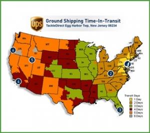 UPS Zone Map